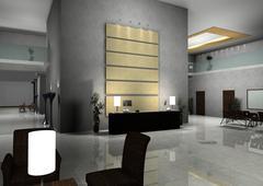 modern design interior of hall,corridor. - stock illustration