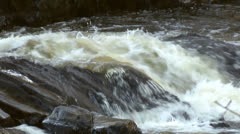 River Rocks White Water 3 Stock Footage
