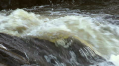 River Rocks White Water 1 Stock Footage
