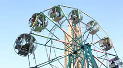 Farris wheel in the city Stock Footage