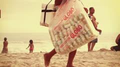 Ipanema Beach Brazil Stock Footage