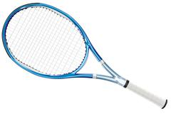 Tennis Racket Blue - stock illustration