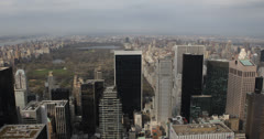 Ultra HD 4K Aerial View of Central Park, Manhattan Skyscrapers, New York City Stock Footage