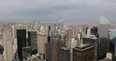 Ultra HD 4K Aerial View of Citigroup Building, Midtown Manhattan, New York City Stock Footage