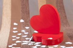 red box in heart shape on an artistic background - stock photo