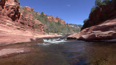 P02794 Stream and Rapids in Arizona Mountains Stock Footage