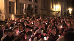 Night Religious Procession Stock Footage