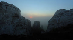 Timelapse sunrise in the mountains.  Stock Footage