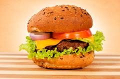 Stock Photo of burger time