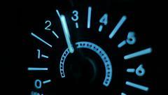 Car dashboard illuminated 2 Stock Footage