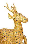 Golden deer sculpture Stock Photos