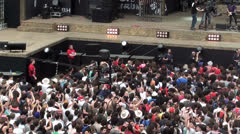 Flycam at concert Stock Footage