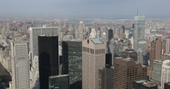 Ultra HD 4K Aerial View of Sony Building, Midtown Manhattan, New York City, USA Stock Footage
