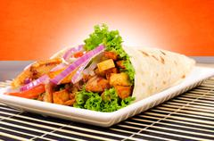 Portion of gyros Stock Photos