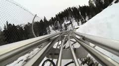 Snow Roller Coaster 2 Stock Footage