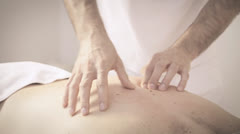 Therapeutic back massage Stock Footage