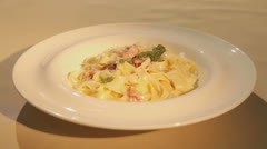 Pasta with parmesan - stock footage