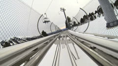 Snow Roller Coaster 1 Stock Footage