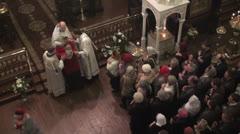 Sacrament in Russian Orthodox Church Stock Footage