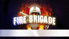 Firebrigade jingle - blue background Stock Footage
