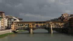 Ponte Vecchio bridge  in Florence  Stock Footage