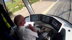 Tram Cab & Driver Stock Footage