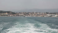 View of Cannes from boat Stock Footage