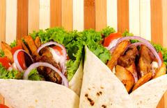 Gyros background Stock Photos