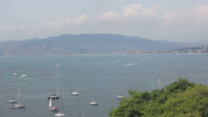 View of Cannes in distance Stock Footage