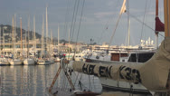Saling boats in Cannes Stock Footage