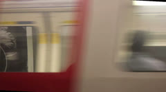 People get on the Tube in London Stock Footage