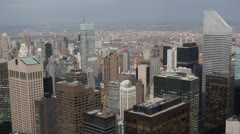 Aerial View New York City Corporate and Residential Towers Buildings NYC Skyline Stock Footage