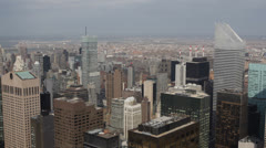Cityscape Aerial View of Citigroup Building, Midtown Manhattan, New York City Stock Footage