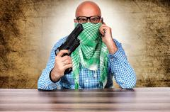 terrorist negotiator - stock photo