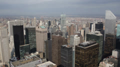 Aerial View New York City Skyline, Modern Business High-Rises NYC Office Towers Stock Footage
