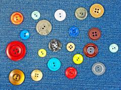 Multicoloured buttons. Stock Photos