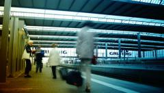 Munich Main train central station, time lapse Stock Footage