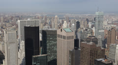 Cityscape Aerial View of Sony Building, Midtown Manhattan, New York City, USA Stock Footage