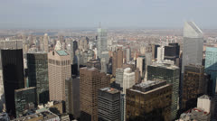 Aerial View of New York City, Skyscraper Tower Roofs, Crowded Corporate Offices Stock Footage