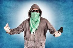 rude gangster - stock photo