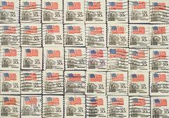 Usa state flag.postage stamps. Stock Photos