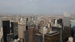 Aerial View of New York City Skyline, Citigroup Tower, Corporate Office Towers Stock Footage