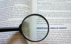 Professional code of conduct Stock Photos