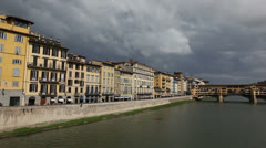 Ponte Vecchio bridge  in Florence - stock footage