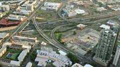Intersecting highways, Melbourne, Australia Stock Footage