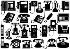 Phone Set Stock Illustration
