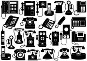 Phone Set Stock Illustration