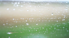 raindrops on the car glass - stock footage