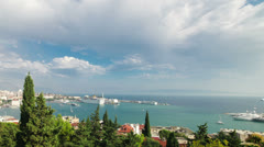 Timelapse of the bay of Split Stock Footage