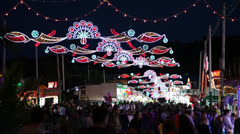 Amusement park at night Stock Footage